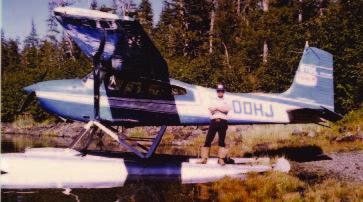 Clark Dechant posing in front of plane