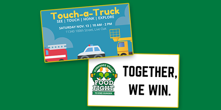 touch a truck and food fight