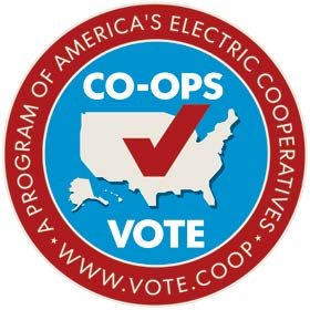 Co-Ops Vote. A Program of America's Electric Cooperatives. www.vote.coop.