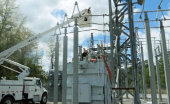 Daniel working on a SVEC substation