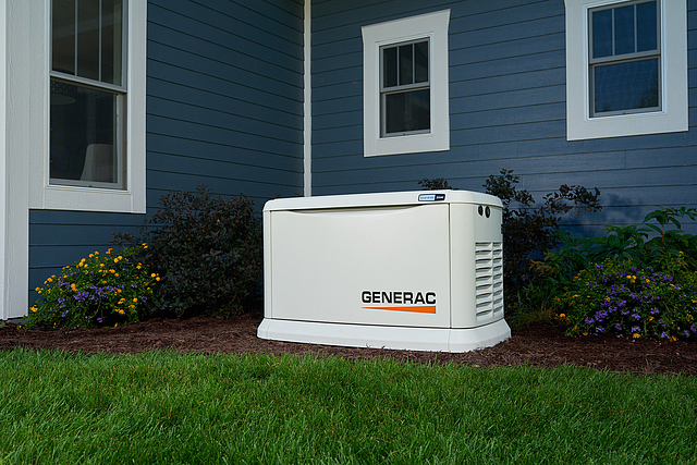 generator outside of house