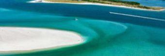 Aerial view of Caladesi Beach