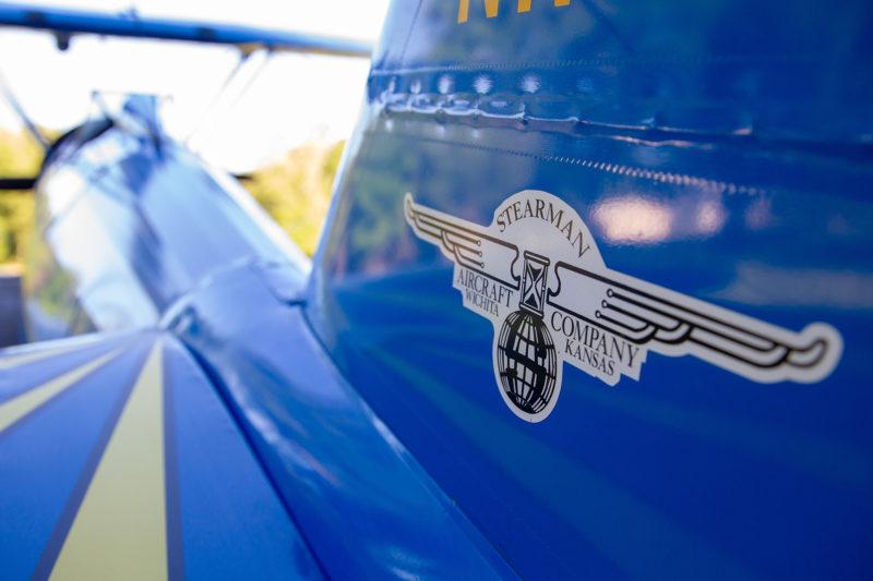 logo on small blue plane