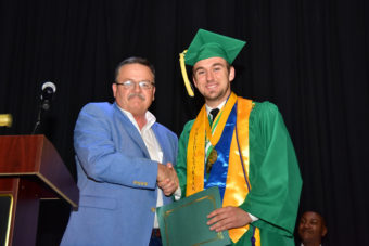 Scholarship recipient with SVEC representative