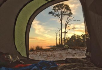 view from camp tent