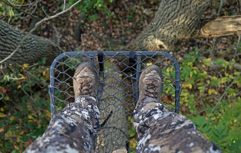 feet on a tree stand