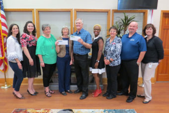 United Way with their check from SVEC