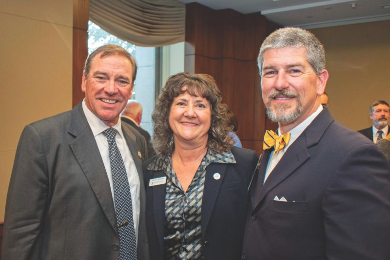 U.S. Congressman Dr. Neil Dunn, Seminole Electric Cooperative VP of Member Services and External Affairs Trudy Novak and SVEC CEO Mike McWaters