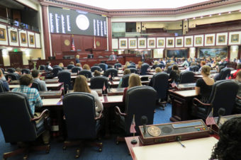 Youth Tour attendees inside the Florida House of Representatives