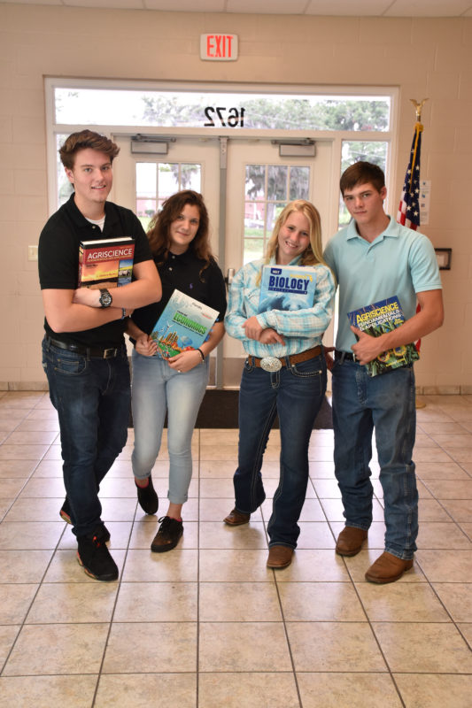 high school students in hallway