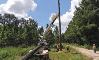 SVEC Engineers working on power line