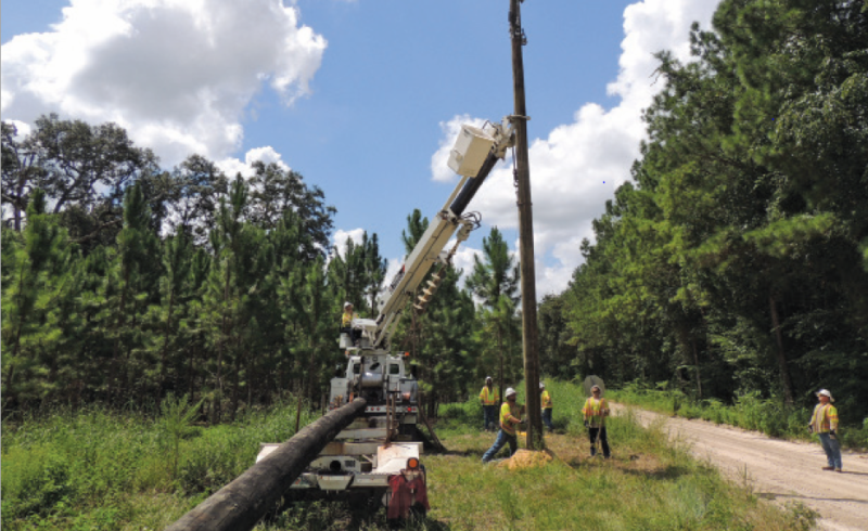 SVEC Engineers working on power line