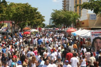 Crowd of people at Calleocho
