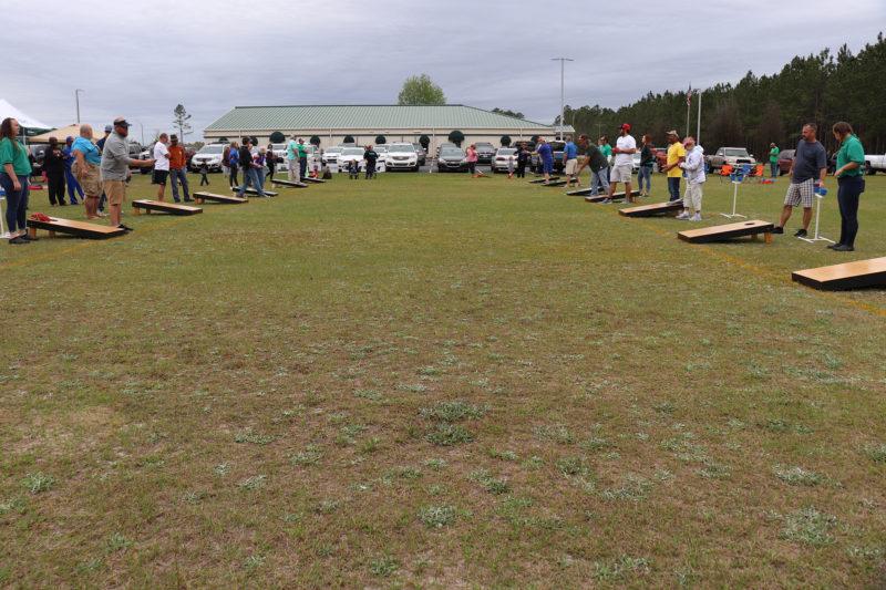 the cornhole tournament