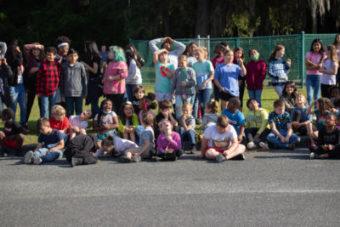 group of kids outside