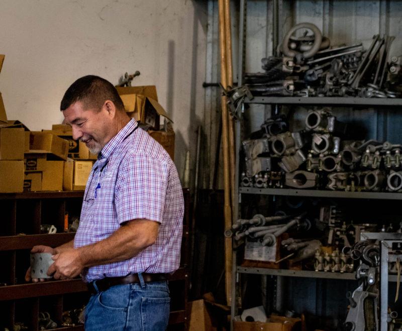 men working at warehouse