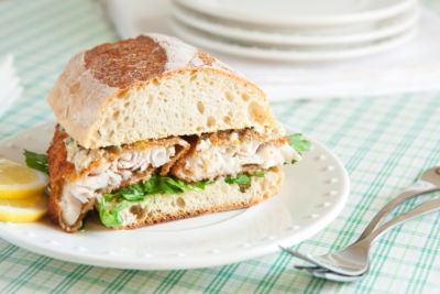 sandwich on plate on table