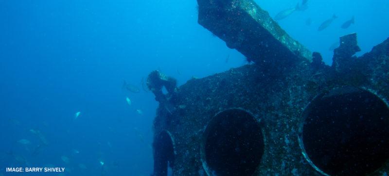 old ship at bottom of ocean